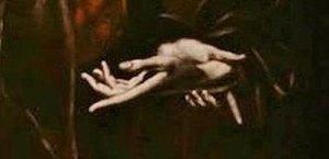 Le Greco : le Christ faisant ses adieux à sa Mère : détail.
