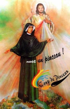Faustine avec un pinceau