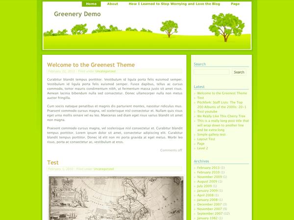 Greenery theme