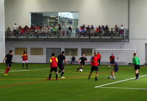 The new indoor field at the Complexe Branchaud Briere