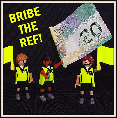 Bribe the ref, Kicking Cancer's Butt 5