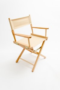 """18"""" Contemporary Series Chair - Natural with Khaki Canvas"""