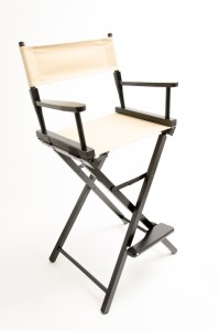 """30"""" Contemporary Series Chair - Black with Khaki Canvas"""