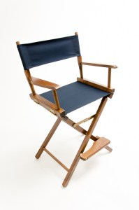 """24"""" Commercial Series Chair - Walnut with Navy Canvas"""
