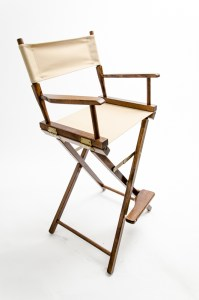 """30"""" Commercial Series Chair - Walnut with Khaki Canvas"""