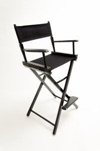 """30"""" Commercial Series Chair - Black with Black Canvas"""