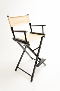 """30"""" Commercial Series Chair - Black with Khaki Canvas"""