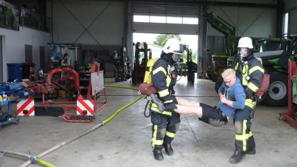 Rettung des vermissten Mitarbeiters von zwei Atemschutzgeräteträger