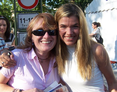 ..Anke and me (sunglasses on and off..hihi), September, 23rd 2006 in Baden-Baden