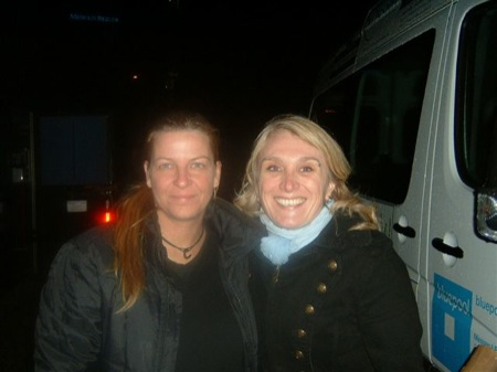 Berit Fridahl & me backstage after the Heather Nova gig in Stuttgart, 10/22/08. Although they didn't play 'Sugar' that night - a smiling, happy and thankful Jasmin next to her female guitar heroe;-)