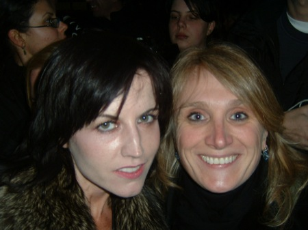...meeting Dolores O'Riordan, voice of The Cranberries, in real good mood after her gig in Mannheim, Alte Feuerwache, Nov. 16th 2007