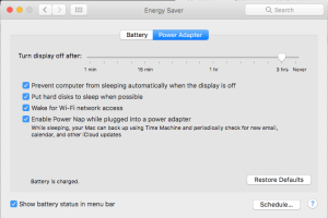 Power Adapter Turn Display Off Timeout can Interrupt Some Slideshows on Mac