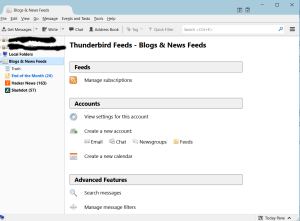 Thunderbird RSS Dashboard