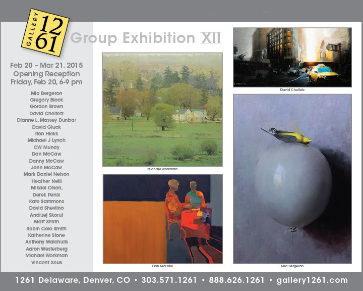 Gallery 1261 group exhibition flyer