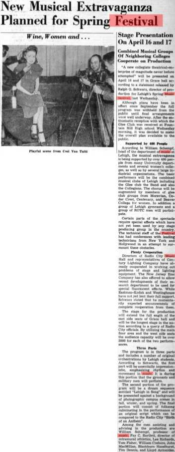 Brown and White article: First festival, 1948