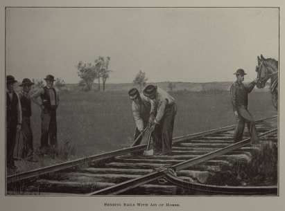 Illustrated Version (SC PHOTO 0001 8- Bending Rails with Aid of Horse)