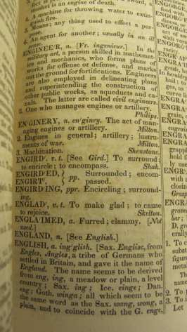 Sample section of AnAmerican Dictionary of the English Language