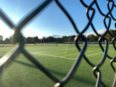 A court at the Weekapaug Tennis courts Friday October 2, 2020, in Weekapaug, R.I. Access to the tennis courts was extremely limited this summer due to Covid-19 safety protocols. (Bonfiglio, J24)