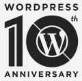 WordPress 10th Anniversary logo