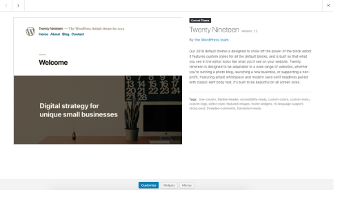 Appearance Themes Screen | WordPress org