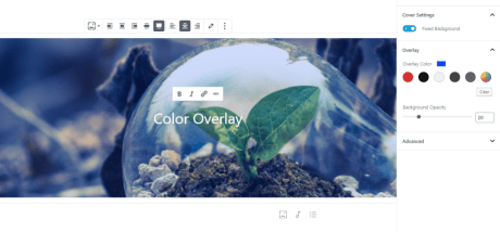 Add a color overlay and set its opacity.