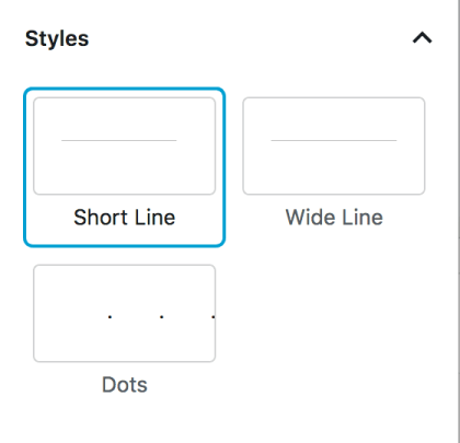 Separator Block Styles