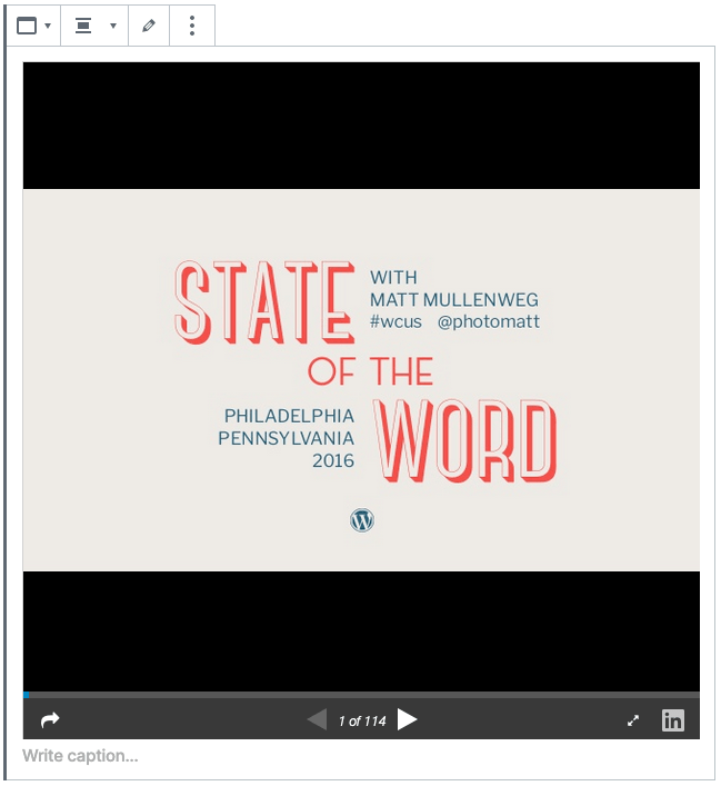 example slideshare in the editor