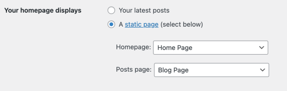 How to create a Static Front Page