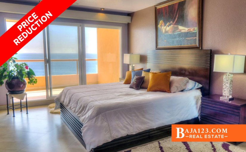 PRICE REDUCTION – Oceanfront Condo For Sale in La Jolla Real, Playas de Rosarito – USD $460,000