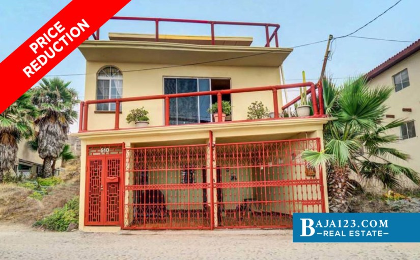 PRICE REDUCTION – Ocean View Home For Sale in San Antonio Del Mar, Tijuana – USD $265,000