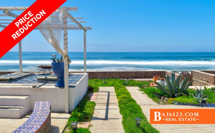 SALE PENDING – Oceanfront Home For Sale in Playa Santa Monica, Rosarito Beach – USD $239,900