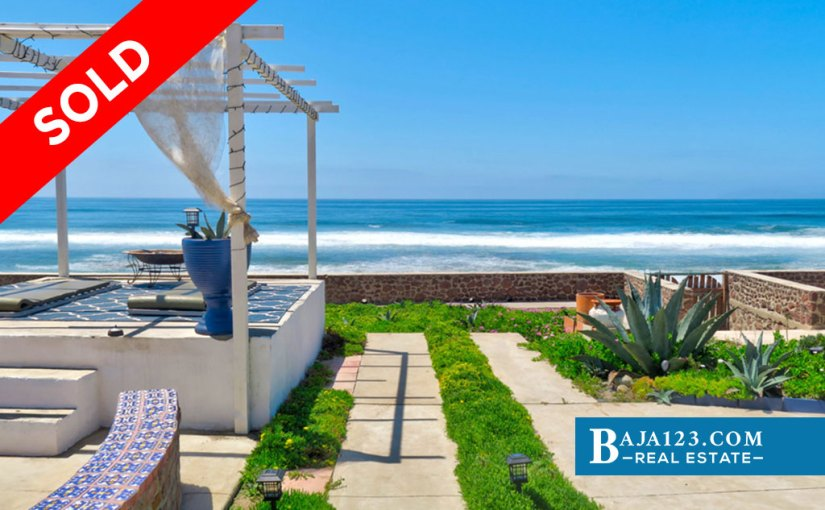 SOLD – Oceanfront Home For Sale in Playa Santa Monica, Rosarito Beach – USD $239,900