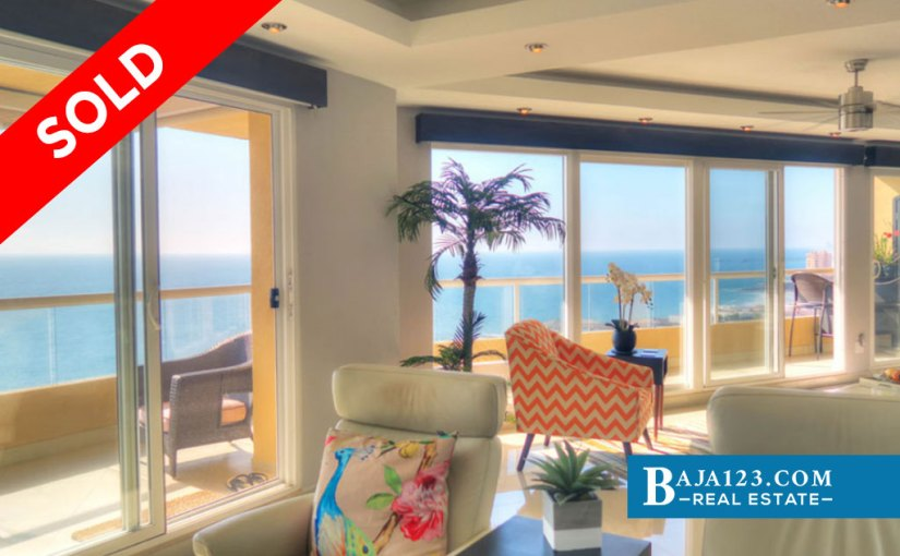 SOLD – Oceanfront Condo For Sale in Tower Perla, La Jolla Real, Rosarito Beach – USD $437,500