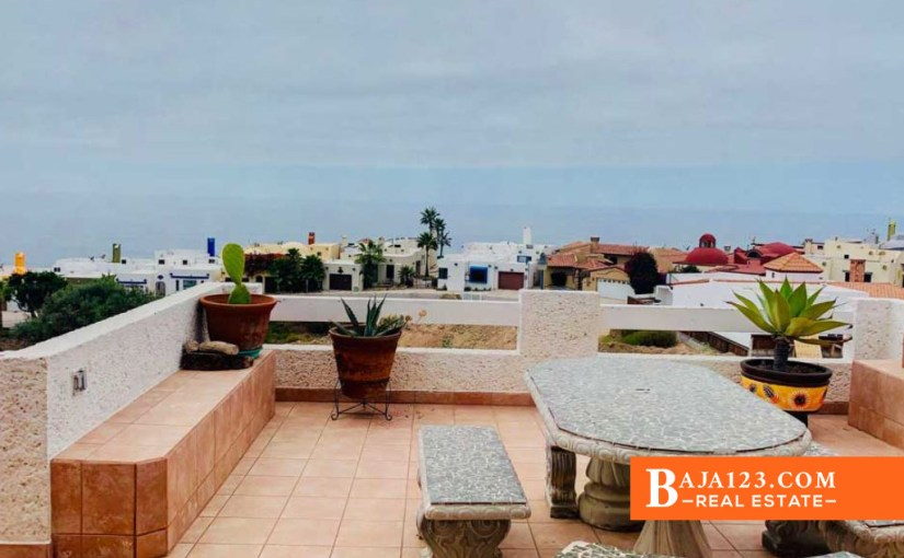 Ocean View Home For Sale in Plaza Del Mar, Playas de Rosarito – USD $199,000