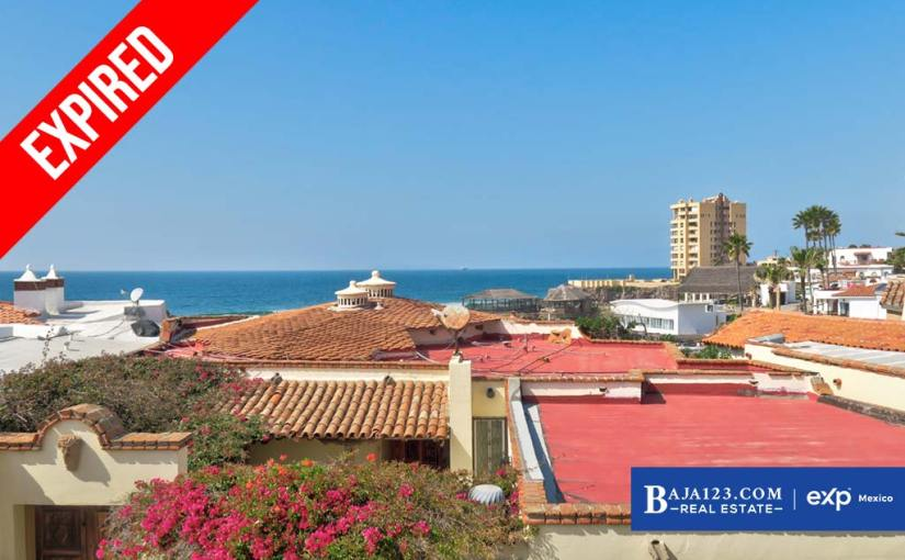 EXPIRED – Ocean View Home For Sale in Castillos del Mar, Playas de Rosarito – $175,000 USD