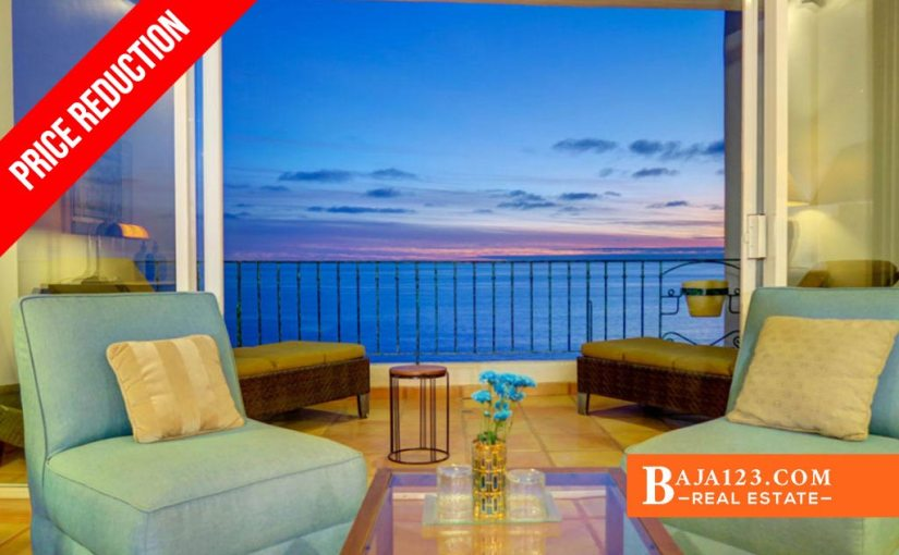 PRICE REDUCTION – Oceanfront Condo For Sale in Club Marena, Rosarito Beach – $877,000 USD