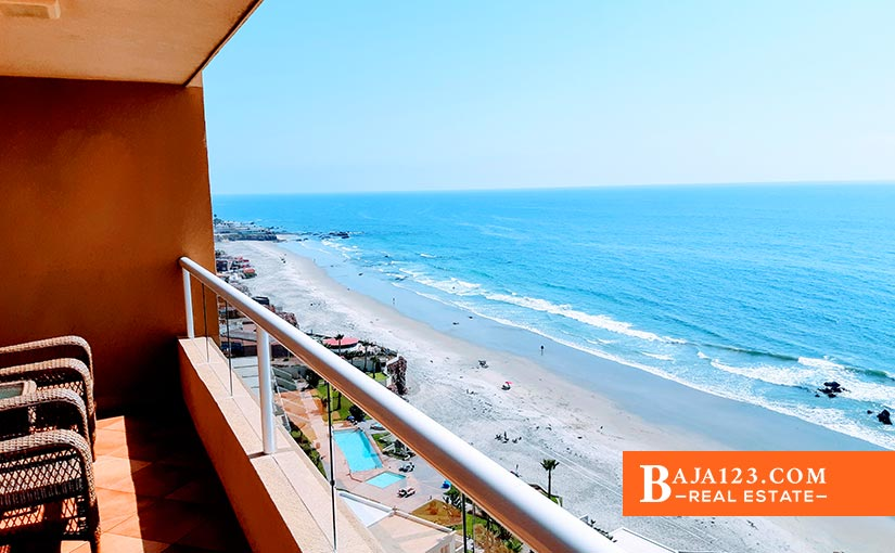 Oceanfront Condo For Sale in La Jolla Real, Rosarito Beach – $470,000 USD