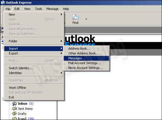 Outlook Express Import