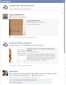 WordPress Hashtag on FaceBook