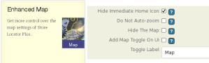 Enhanced Map Info Settings Banner