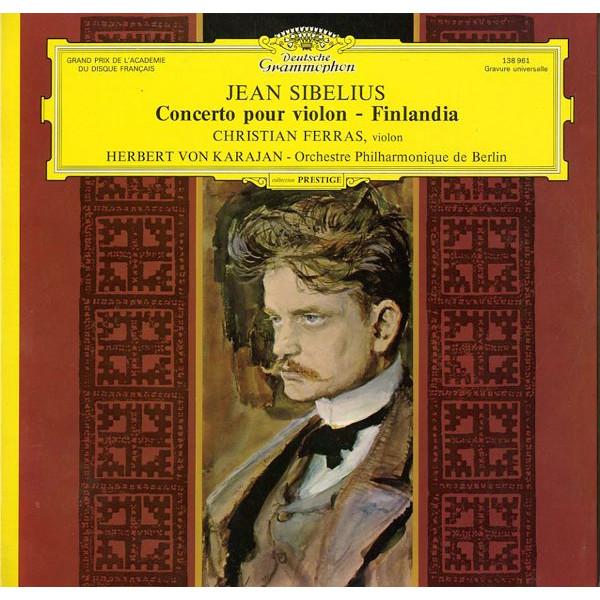 DE DGG 138 961 フェラス シベリウス・ヴァイオリン協奏曲