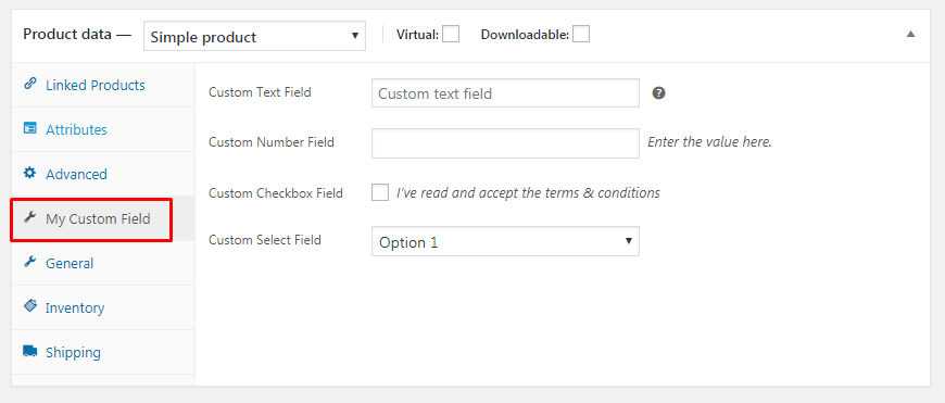 How to change position of custom product panel tabs in