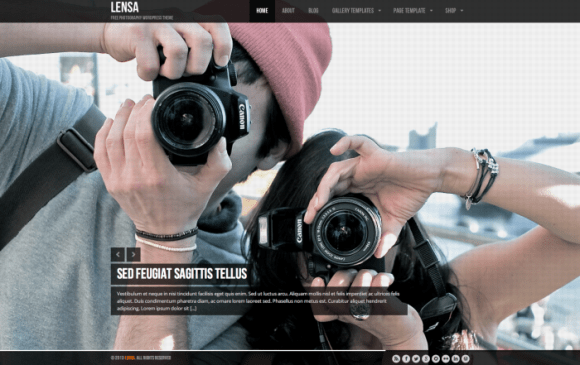 Lensa premium wordpress sablon
