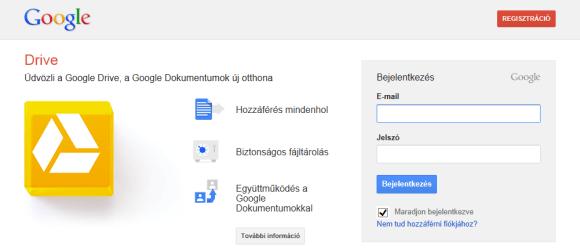 Google Drive használata képekhez