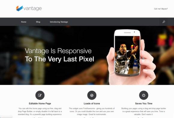 Vantage WordPress sablon