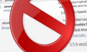 Hogyan tiltható le a sablonok, bővítmények telepítése és frissítése WordPressben