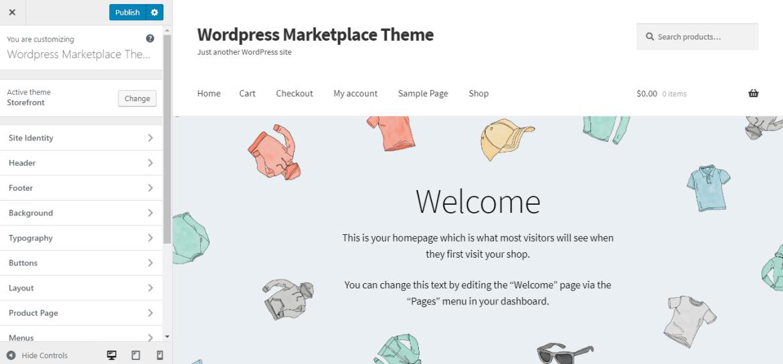 woocommerce storefront theme customization