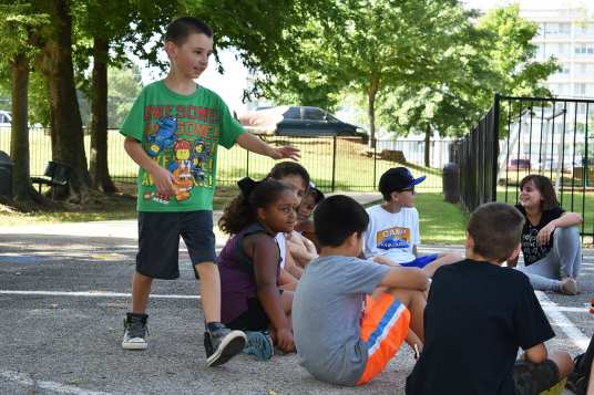 Duck-duck-goose is a perennial favorite on the playground.