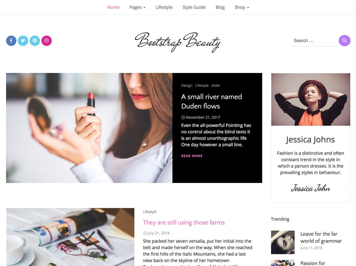 Bootstrap Beauty WordPress Theme