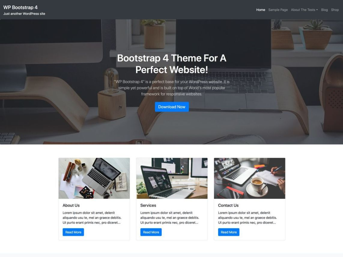 Bootstrap Blog WordPress Theme